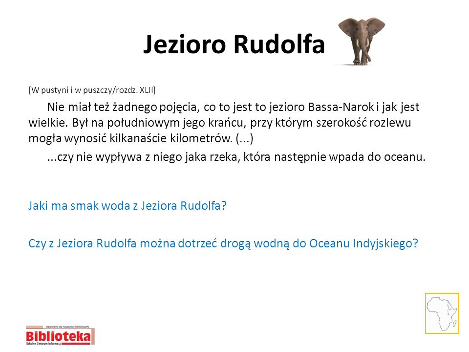 Jezioro Rudolfa [W pustyni i w puszczy/rozdz. XLII]